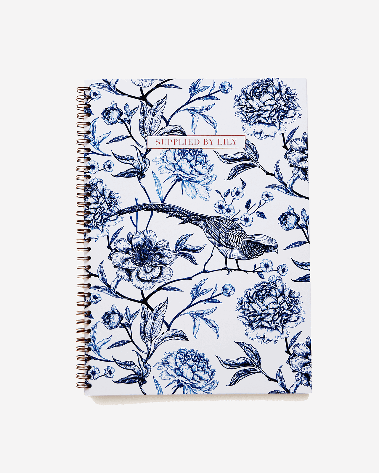 Supplied by Lily A4 Spiral Notebook in Luxurious Toile de Jouy