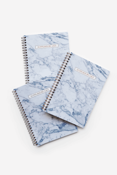 Supplied by Lily A5 Spiral Notebook in Luxurious Marble