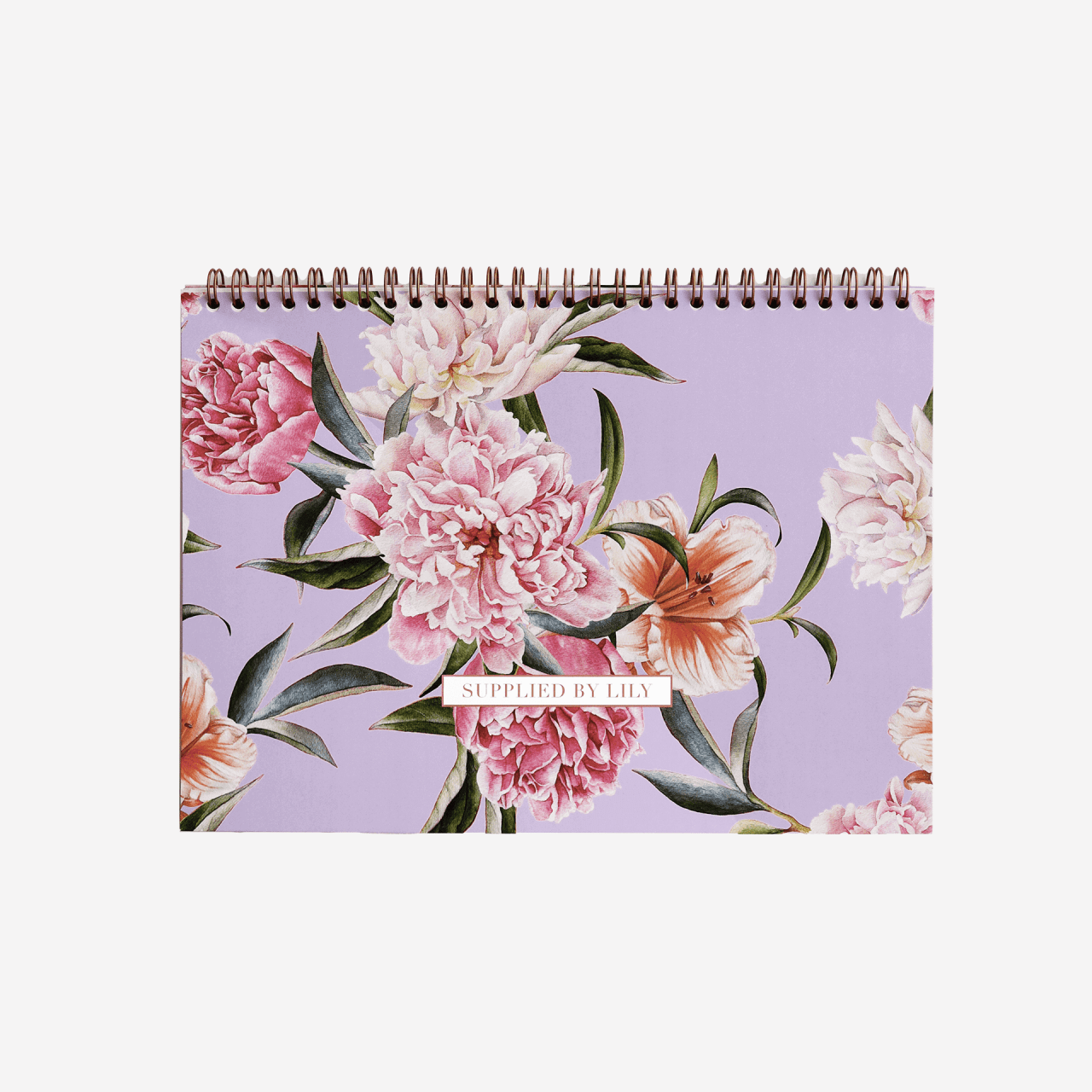 Student Desk Planner Grande in Luxurious Lilac Floral