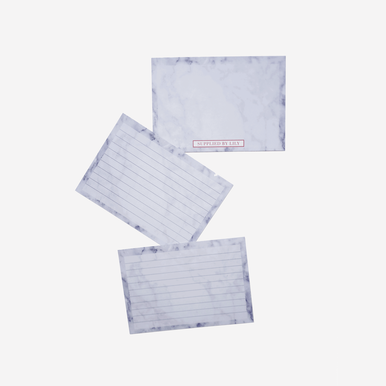 Flashcards Set in Luxurious Marble (50 pcs)