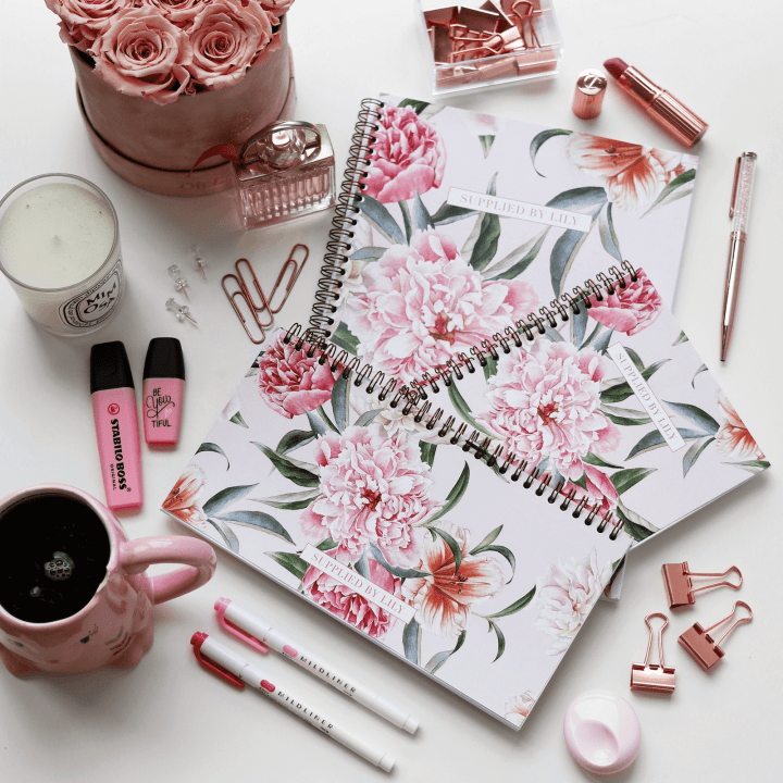 Supplied by Lily Luxury Student Stationery in Luxurious Blush Floral