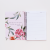 A5 Spiral Notebook in Luxurious Blush Floral