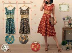 94460 katun songket +FREE Gold belt - idr80 - fit to L (PREMIUM STUFF)