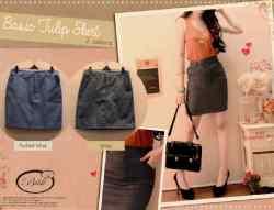 Basic Tulip Skirt • denim • @50 • seri4pcs Rp174rb • fit to L kecil