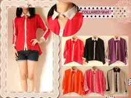 Collared Shirt • @60 • seri3pcs Rp161rb • rosekin fit to L