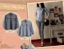Denim Alike • @53 • seri4pcs Rp186rb • denim+studs• fit to L