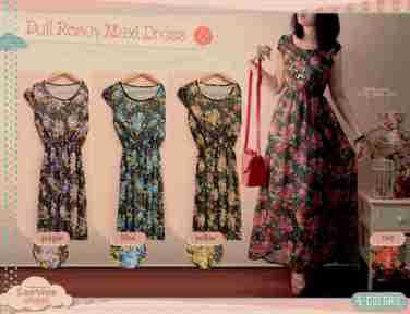 Dull rosey maxi @76 - seri4pcsRp278rb - ceruty+furing fit to L