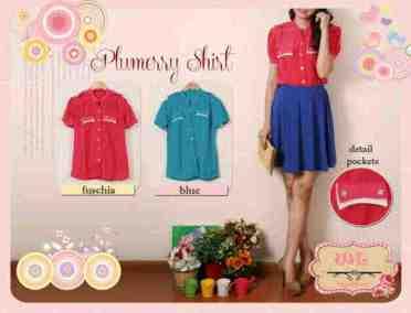 Plumerry Shirt @56rb • seri4pcs Rp198rb • Twistcone • LD101 P75