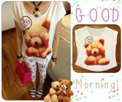 tee bkk teddy thinking @46 - seri3pcs Rp119rb - spandex jersey fit to L