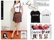 Lanvin H&M Loose Tee bahan Kaos fit to XL - ecer @37rb - seri4pcs 124rb