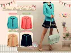peterpan double collar shirt @57 - twiscone fit to L - seri4pcs 202rb