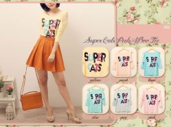 #782-CUTOUT SUPER CATS- ecer@44 - seri6pc 228rb-kaos spandex-LD100-6wrna (pastel colors)-DETAIL TANGAN 7per8