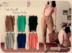 #0331D Cute Overall Pants - ecer@62 - seri6w 336rb - fit to L - bahan twiscone.