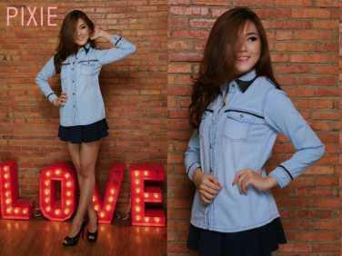 Line leather basic - ecer@72 - seri4pc 264rb - bahan jeans asli