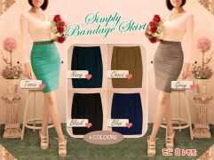 Simply bandage skirt+belt - ecer@49rb - seri6w 258rb - bhn katun stret - ad sleting belakang - fit to L