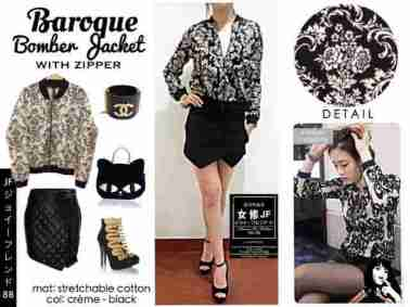 Baroque Bomber Jacket - bahan Katun Stretch - fit to L besar - ecer@ 62rb - seri4pcs 224rb