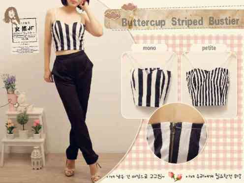 Buttercup Bustier - bahan katun stretch - ada tali renda - fit to L - ad Cup - ecer@54rb - seri4pcs 192rb