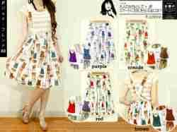 Fashion Icon Midi Skort - ecer@62 - seri4w 224rb - twiscone print+furing clna pdk - Tali bisa dilepas