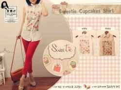 Sweetie Cupcake - ecer@57rb - seri4pcs 204rb - bahan Twiscone + Digital Print - Fit to L