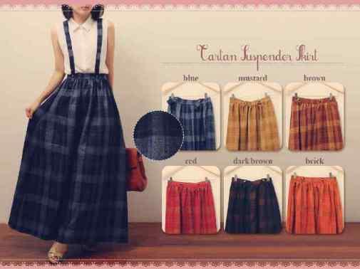 Tartan suspender skirt - ecer@68 - seri6w 378rb - bhn wool