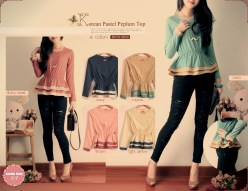 Korean Pastel Peplum - ecer@59 - seri6w 324rb - wolly crepe