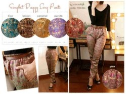 Songket Baggy Pants - ecer@65rb - seri6pcs 360rb -songket+belt - fit to L