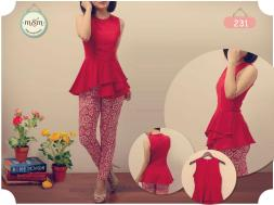 231 - ecer@57 - seri4pcs 204rb - bhn viscose stretch - fit to M