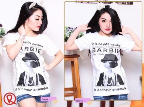 Barbie Vintage - ecer@38 - seri4pcs 132rb - bahan kaos