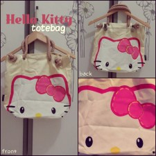 Hello Kitty - ecer@60rb - seri3pcs 165rb - bahan denim