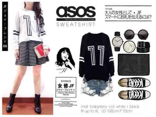 ASOS11 Sweater - ecer@54rb - seri4pcs 192rb - bahan baby terry - fit to XL