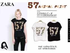 57 AnimalPrint - ecer@38rb - seri4pcs 132rb - bahan Kaos - fit to XL