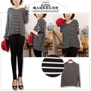 Black Stripe Boxy Tee - ecer@61rb - seri3pcs 165rb - cotton combed