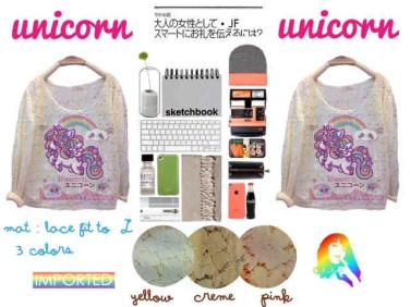 IMPORT - Unicorn Lace Tops - ecer@75rb - seri3w 210rb - bahan Brukat - fit to XL