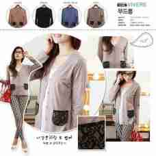 Lacey Pouch Cardi - ecer@60rb - seri4w 220rb - spandex viscose - fit to L