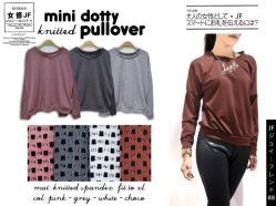 Mini Dotty Pullover - ecer@57rb - seri4w 208rb - bahan Spandex Dotty (bahan unik & bagus) - fit to XL
