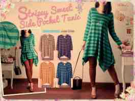 Stripey Sweet Tunic - ecer@59rb - seri5w 265rb - fit to XL - cashmere