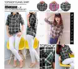 Topshop Flanel Shirt - ecer@75 - seri3w 210rb - bahan Import Flanel (tebal) - fit to L besar