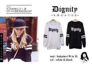 Dignity Sweater - ecer@57rb - seri4pcs 208rb - bahan Babyterri - fit to XL