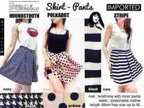 IMPORT - SkirtPants (rok+inner pants) - ecer@79rb - seri3motif3warna 444rb - fit to L