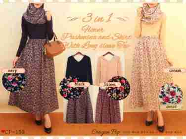 CP159 - ecer@90rb - seri4w 340rb - rayon+spandex - fit to L