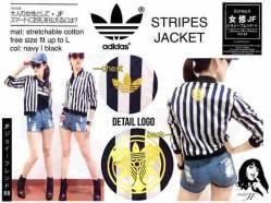 Adidas Stripes Jacket - seri4pcs 130rb - bahan Twiscone - fit to L - Foil Emas di dada & punggung