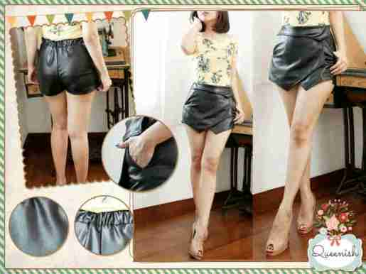 Latex Skort - ecer@72rb - seri4pcs 264rb - thick latex + karet belakang + resleting - P31 LP64-92