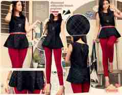 Diamond SIlhouette Peplum - ecer@60rb - seri4pcs 220rb - shimmery jersey - fit to L