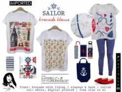 IMPORT - BKK Sailor Brocade - ecer@73rb - seri3gambar 204rb - brocade+inner - Fit to XL