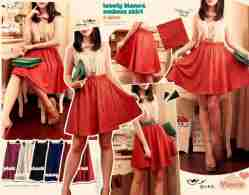 Lovely Bianca Emboss Skirt - ecer@70rb - seri6w 390rb -emboss+full karet - fit to L