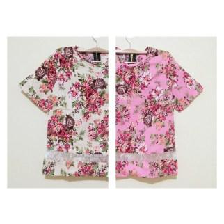 DETAIL Floral Organza Top - ecer@59rb - bhn cotton stretch kombi organza , blkg zipper - fit L