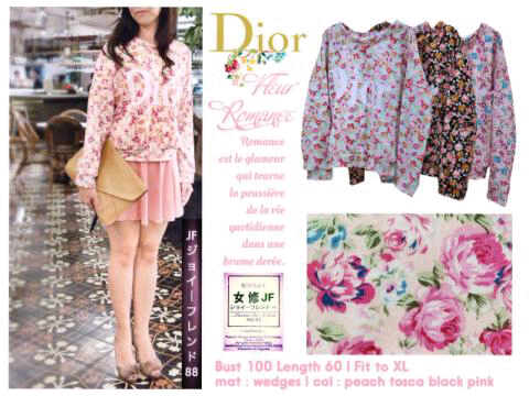 DIOR Fleur Sweater - ecer@69rb - seri4w(tosca,black,peach,pink) 256rb - bhn wedges - Fit to XL