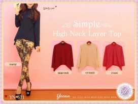 High Neck Layer Top - ecer@50rb - seri4w 180rb - spandex - fit to L