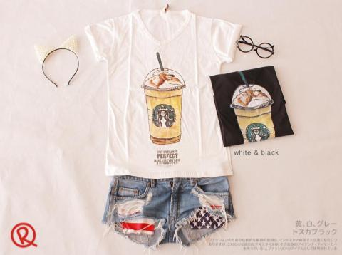 Perfect Starbucks Tee - ecer@45rb - seri4pcs 160rb - kaos - fit to L