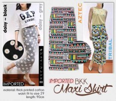 PO BKK Maxi Skirt - ecer@104rb - seri4motif 396rb - printed katun stretch tebal - fit to size 29 - close 21sep pagi ready 21okt± - DP50%
